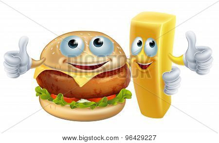 Burger And Chip Characters