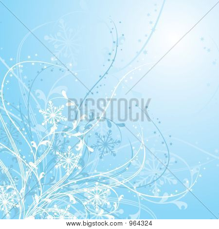 Christmas, Snowflakes Background, Vector