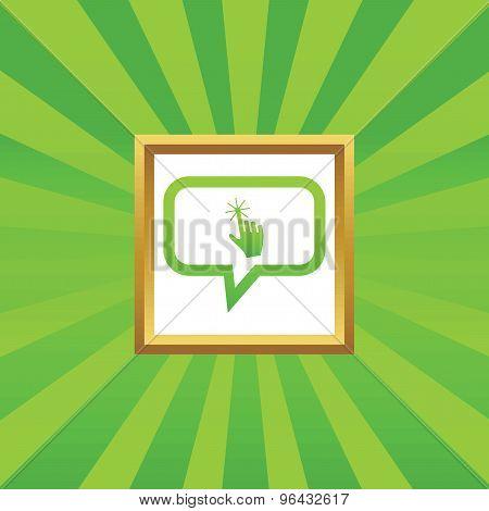 Hand cursor message picture icon