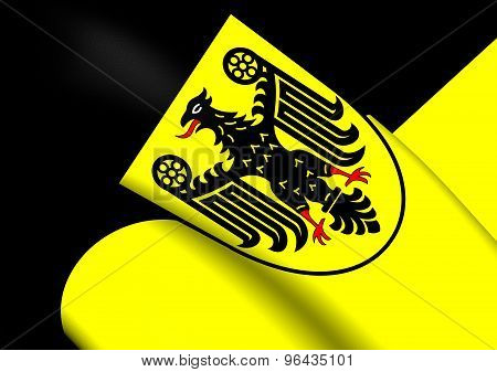 Flag Of Goslar City, Germany.
