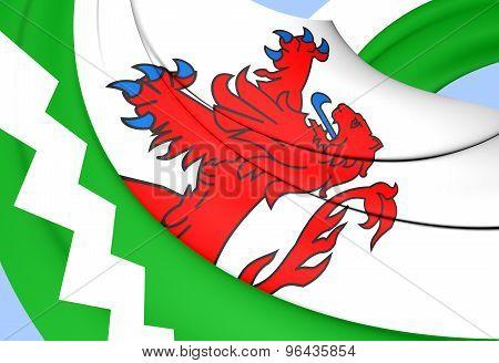Flag Of Westland, Netherlands.