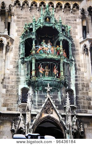 Glockenspiel In Munich, Germany