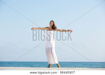 Carefree Woman Enjoying Life