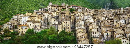 Scanno - beautiful authentic village in Abruzzo. Italy poster