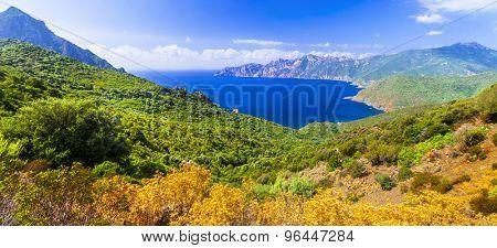 beautiful landscapes of Corsica island