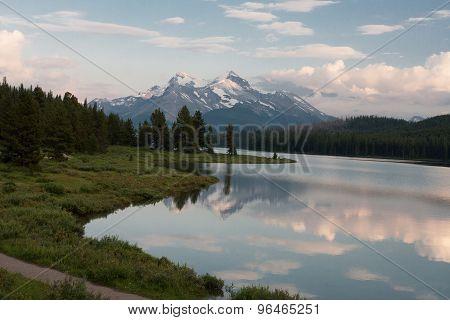 Maligne Lake In Jasper National Park, Alberta, Canada  -  Stock Image