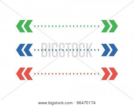 Abstract arrow element. Shape, Isolated, Vector and White. Stock illustration for design