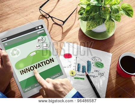 Ecology Innovation Environmental Conservation Go Green Invention Concept poster