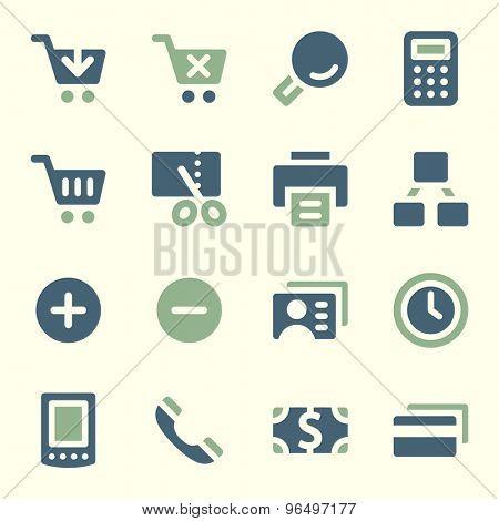 Shopping web icons set