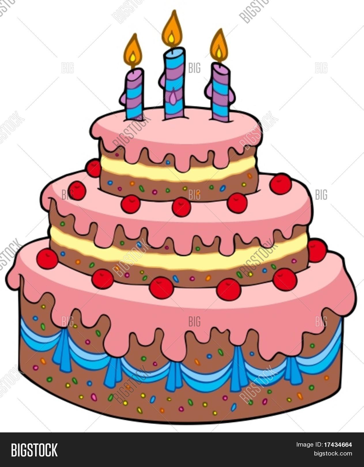 Happy Birthday Big Cake Gif