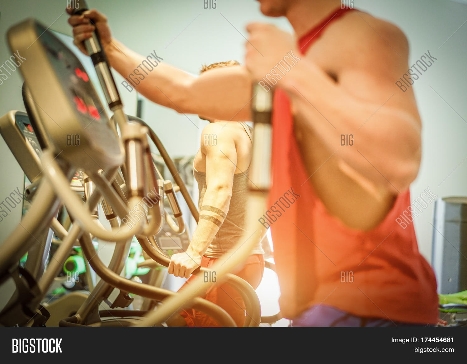 Fitness Men Using Image Photo Free Trial Bigstock