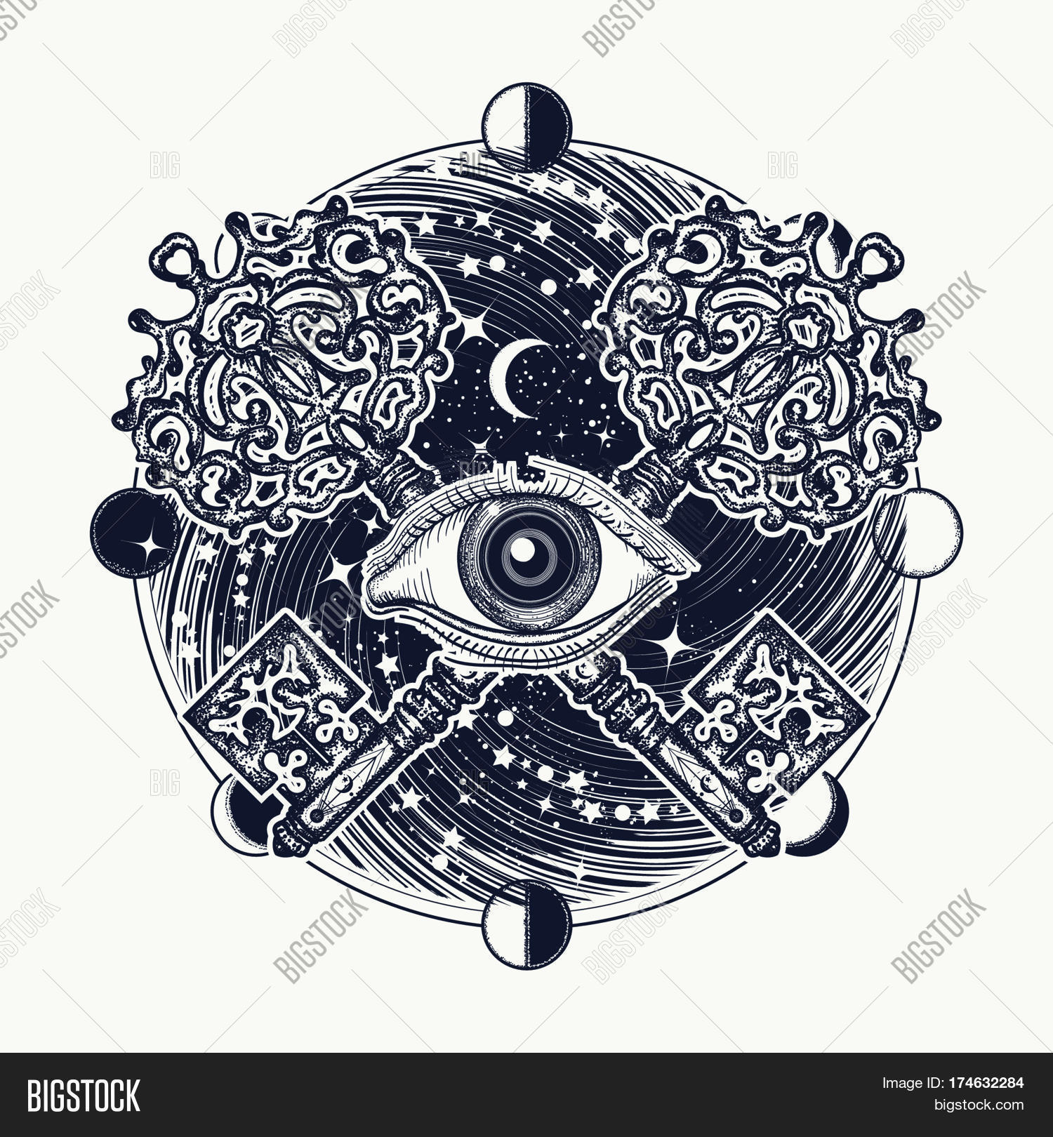All Seeing Eye Tattoo Vector Photo Free Trial Bigstock