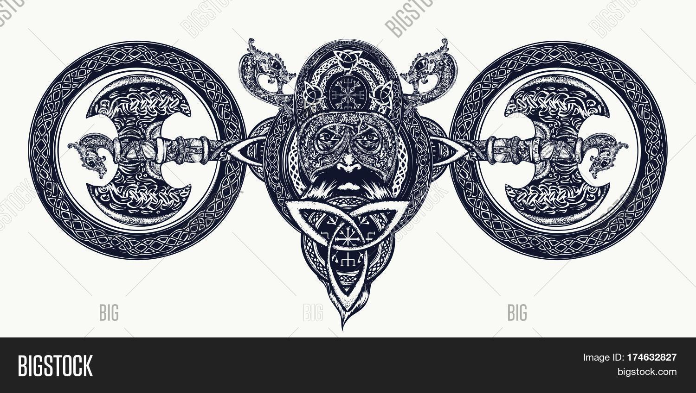 Viking Tattoo Celtic Vector Photo Free Trial Bigstock