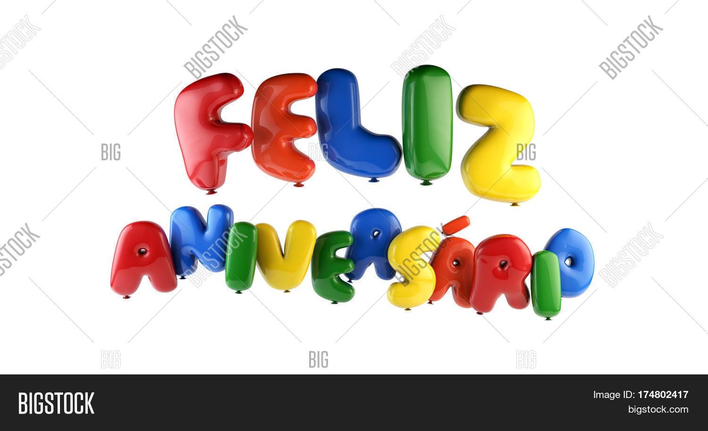 Happy Birthday Feliz Image Photo Free Trial Bigstock