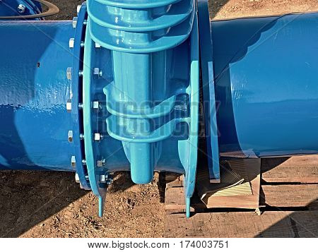 500Mm Drink Water Gate Valve Joint With Screwed Pipe Fitting