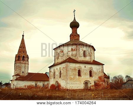 Christian Old Chirch In Russian Town Suzdal