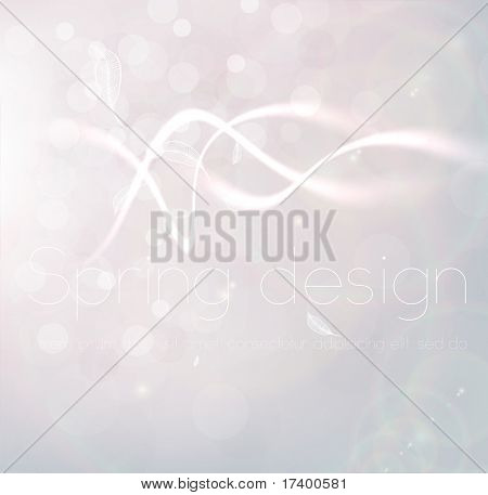 Luxury greeting card. Vector spring background. Eps10. poster