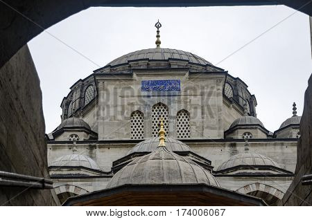The Sokollu Mehmet Pasha Mosque (Turkish: Sokullu Mehmet Pasa Camii) is an Ottoman mosque located in the Kadirga neighborhood of the Fatih district of Istanbul Turkey. Sokullu Mehmet Pasha Complex in Kadirga. Construction completed in 1572.