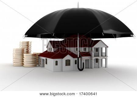 3d Property insurance concept