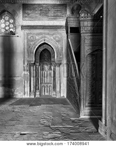 Mihrab (Niche) and Member (Platform) of Ibn Tulun Mosque Cairo Egypt
