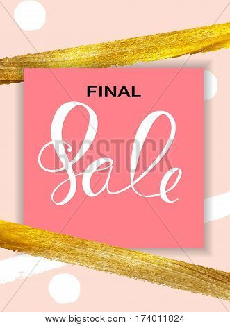 Abstract Designs Final Sale Banner Template with Frame. Vector Illustration EPS10