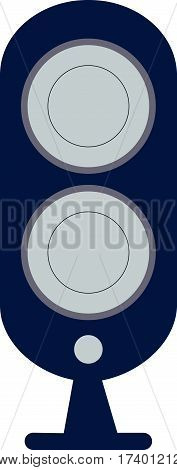 Acoustic Speakers Vector Icon.