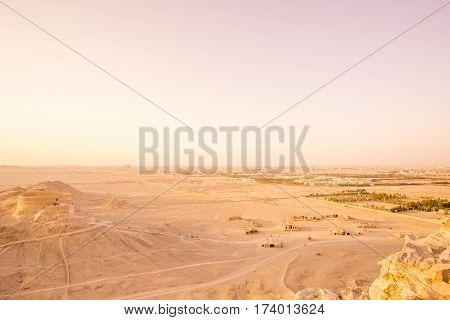 sunset view on Zoroastrian Fire temple in Yazd