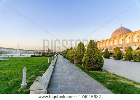 view on Naqsch-e Dschahan Square - Imam Square in Isfahan - Iran