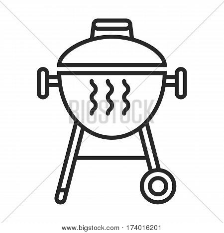 Grill vector icon in simple outline style. These icons are perfect for your websites and applications. All icons in the vector, and you can easily change the color and size.