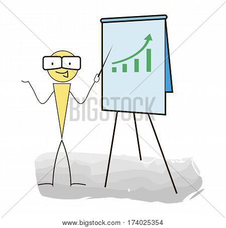 Seminar and presentations on a white background