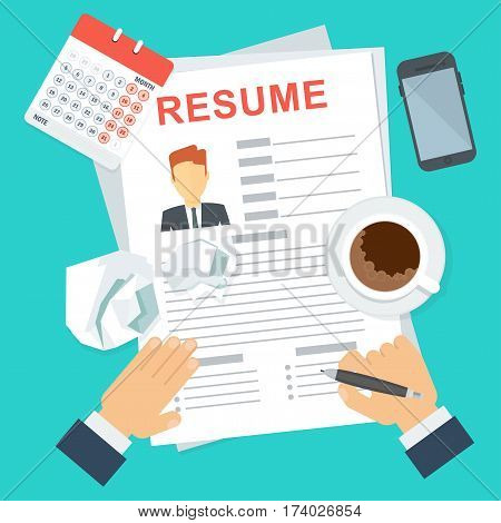 Resume Writing Concept