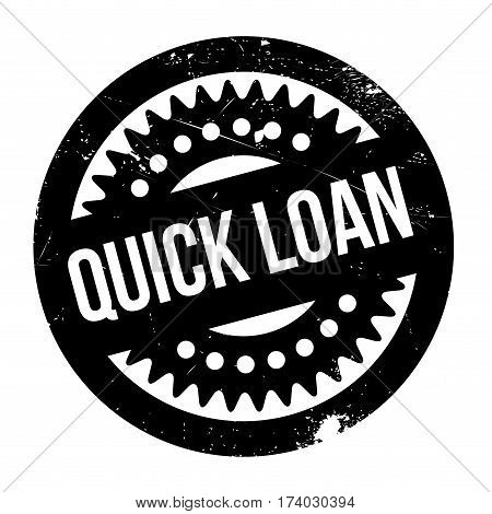 Quick Loan rubber stamp. Grunge design with dust scratches. Effects can be easily removed for a clean, crisp look. Color is easily changed.
