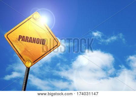 paranoid, 3D rendering, traffic sign