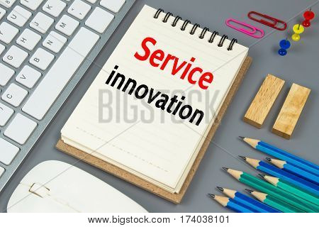 Service innovation, Text message on white paper