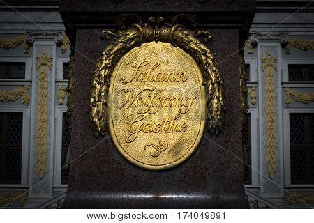 Leipzig Alte Boerse Goethe Monument Architecture Historical Figure Statue Author Famous Tourism Trav