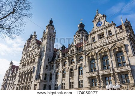 Leipzig Exterior Altes Rathaus Council City Government Germany Europe Architecture Building Daytime
