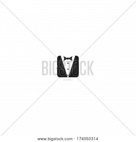 Suit or Jacket or Tuxedo or Butler Icon. Isolated.