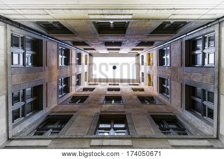 Looking Up Skylight Windows Perspective Illusion No Floor Sky White Fade Heaven Corridor Artistic Co