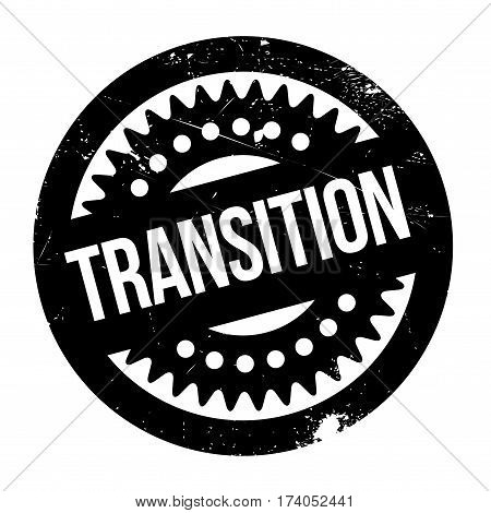 Transition rubber stamp. Grunge design with dust scratches. Effects can be easily removed for a clean, crisp look. Color is easily changed.