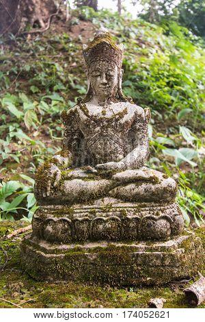 Old Thai angel statue , art religion