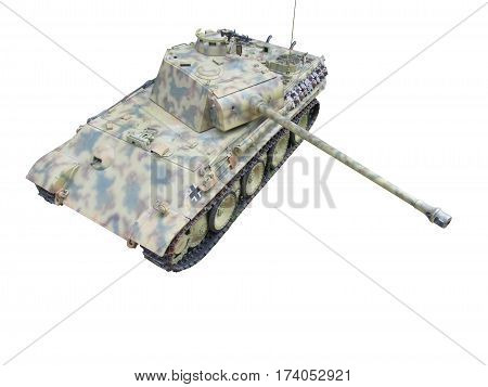 clipping path panther tank German world war two
