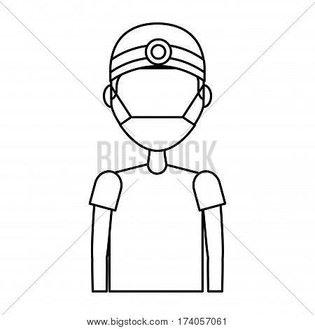 professional surgeon avatar character vector illustration design