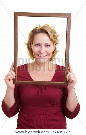 Woman In A Wooden Frame