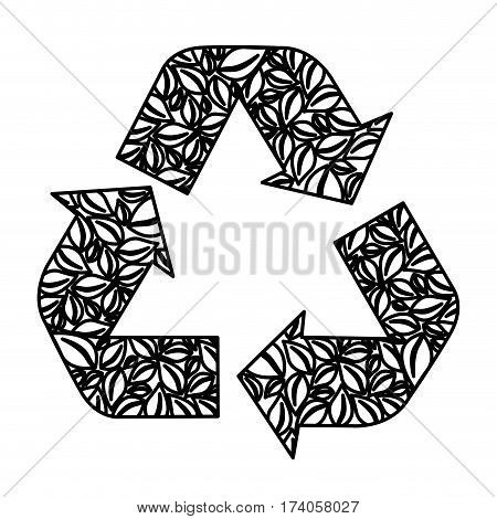 figure symbol reuse, reduce and recycle icon, vector illustraction design