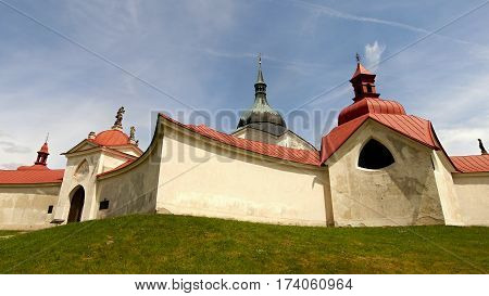 Pilgrimage Church St. John of Nepomuk at Zelená Hora, Czech Republic - UNESCO HERITAGE