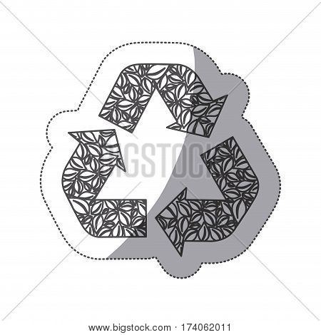 silhouette symbol reuse, reduce and recycle icon, vector illustraction design