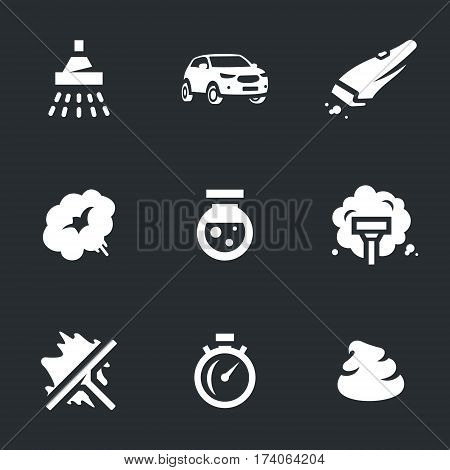 Shower, car, vacuum cleaner, steam, chemical, polish, washing, stopwatch, wax.