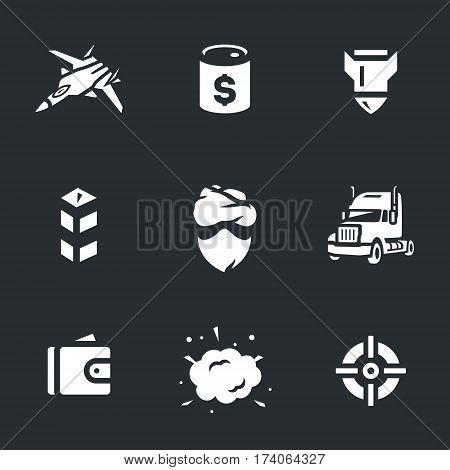 Fighter, oil barrel, bomb, border post, criminal, truck, purse, blast sight.