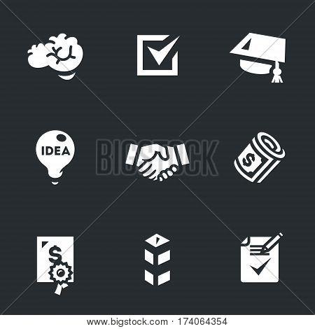 Brain, selection, scientist, idea, shaking hands, salary, grant, border, agreement.