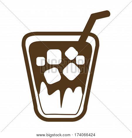 hot latte ,coffee icon set , ice